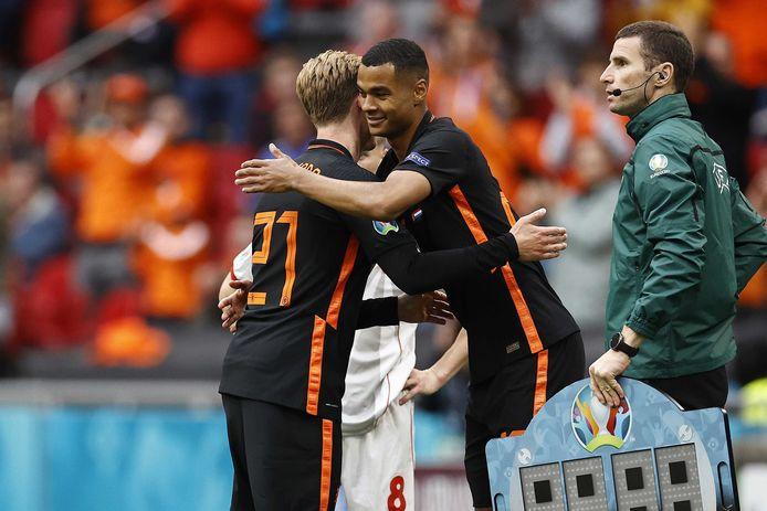 Cody Gakpo maakte zijn debuut voor Oranje tegen Noord-Macedonië.