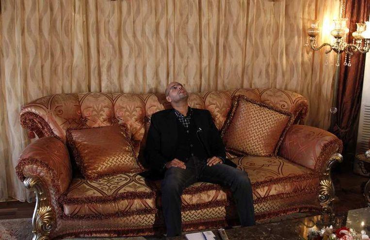 Saif al-Islam Kaddafi, vorig jaar maart. Beeld reuters