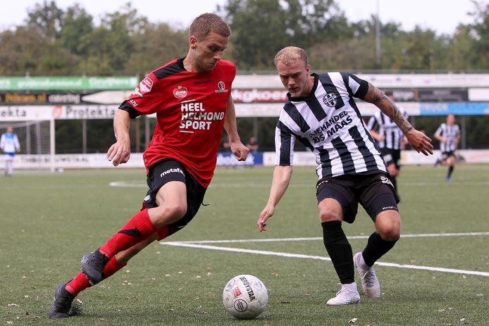 Robert Mutzers speelde in de voorbereiding nog met Helmond Sport tegen vv Gemert.