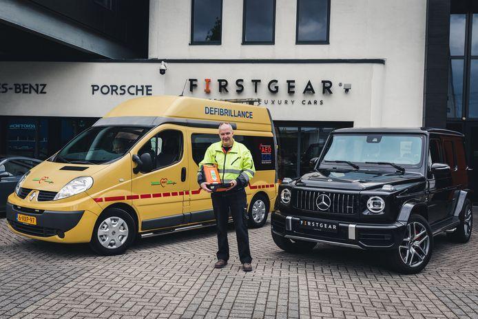 Henk Poort van Stichting Twente Hart Safe hoopt op grote deelname aan de loterij, want dat betekent meer levensreddende AED's