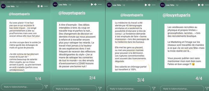 L'un des nombreux témoignages partagés par le compte Instagram Balance Ta Start-Up.