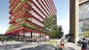 Impressie van nieuw kantoorgebouw Lichthoven bij station Eindhoven