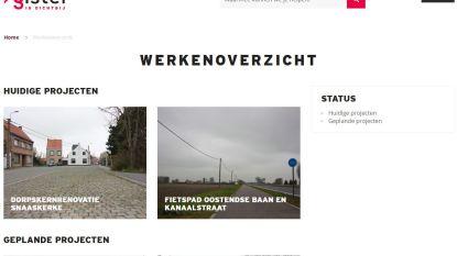 Nieuwe webpagina bundelt alle openbare werken