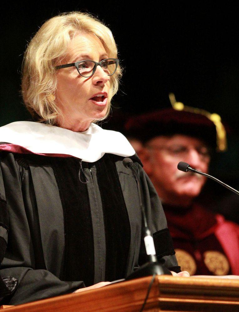 Amerikaans minister van Onderwijs Betsy DeVos.  Beeld AP