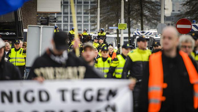 In december demonstreerde Pegida ook in Rotterdam.