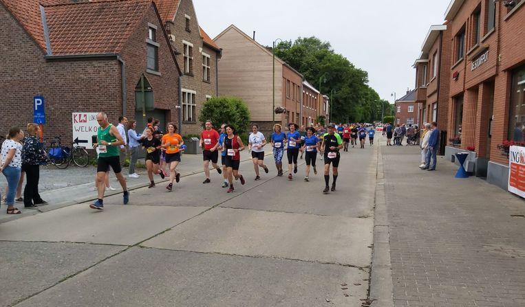 Tijdens de Gaston Roelants Run