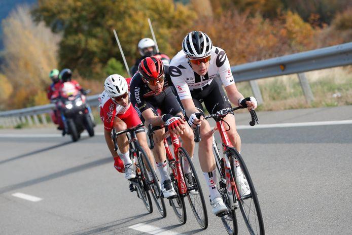 Thymen Arensman in de vijfde etappe van de Vuelta.