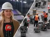 De opbouw van het Songfestival in Ahoy is in volle gang