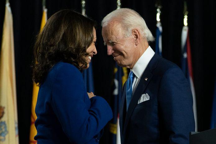 Kamala Harris en Joe Biden.