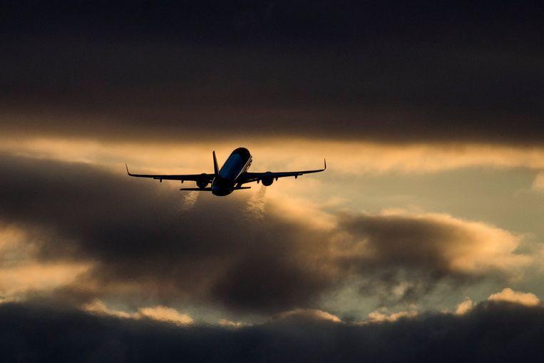 In de strijd om de reiziger proberen luchtvaartmaatschappijen zich zo groen mogelijk voor te doen. Beeld Photothek via Getty Images