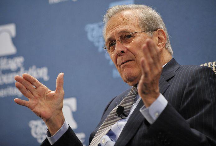 De voormalige Amerikaanse minister van Defensie Donald Rumsfeld.