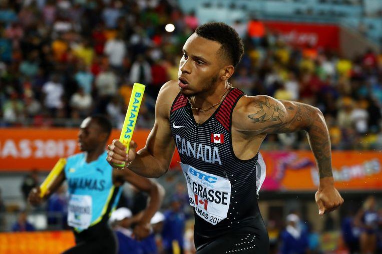 Andre De Grasse, een van de absolute wereldtoppers in het atletiek, is een Canadees. Beeld Getty Images for IAAF