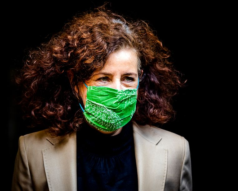 Ingrid van Engelshoven, minister van Onderwijs, Cultuur en Wetenschappen, na afloop van de wekelijkse ministerraad. Beeld Hollandse Hoogte /  ANP