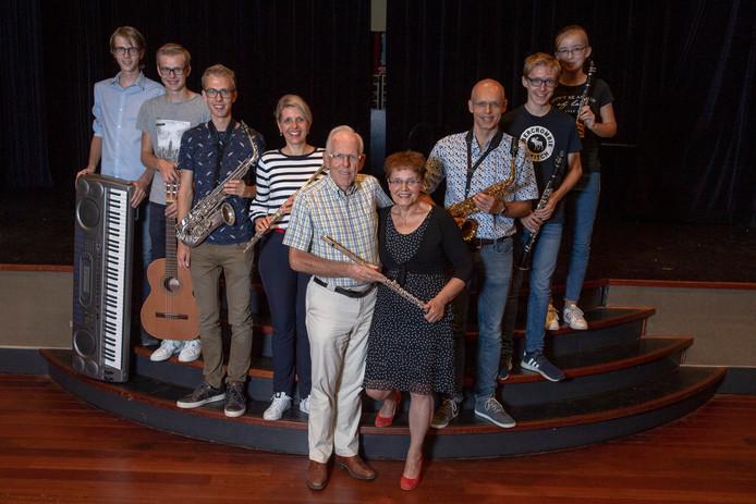 De muzikale familie Van Gorp in Udenhout.