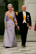 Prinses Benedikte van Denemarken met haar man prins Richard van Berleburg in 2015