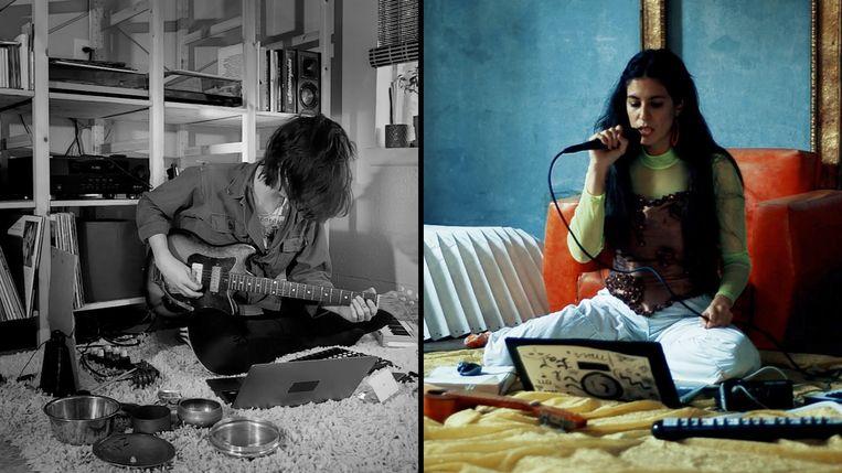 Livestream van Claire Rousay en Morita Vargas, voor festival Rewire. Beeld