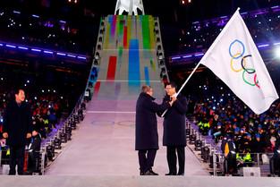 fotoreeks over Slotceremonie: Pyeongchang draagt vlag over aan Peking