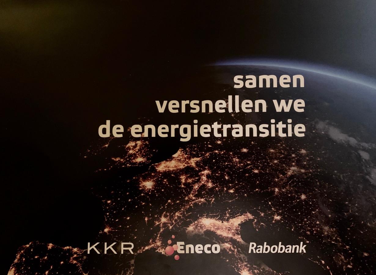 De voorkant van het vertrouwelijke biedingsdocument, waarin Rabobank en KKR hun plannen met Eneco specifiek uit de doeken doen.