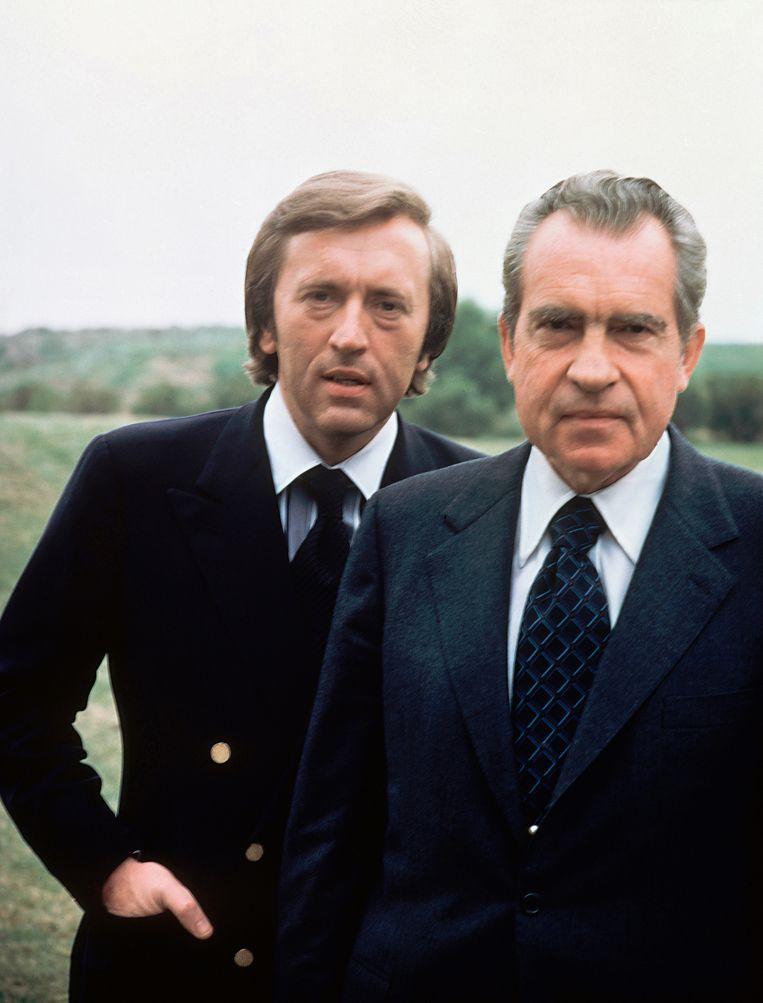 David Frost met Nixon. Beeld AP
