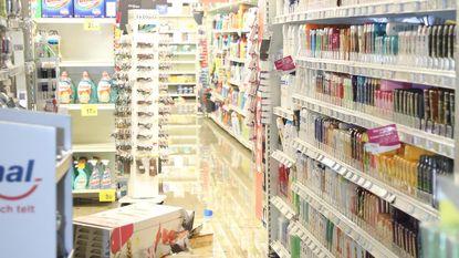 Dak Carrefour stort in door onweer