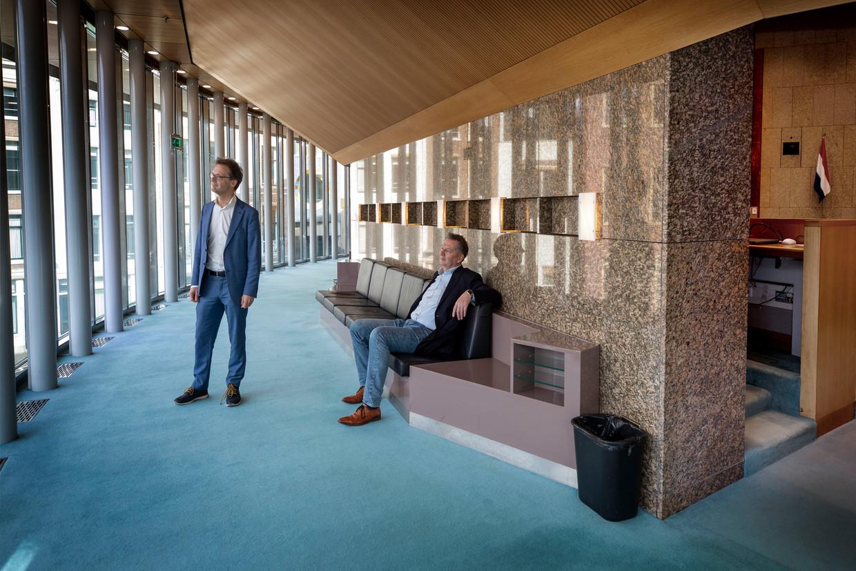 TweedeKamerleden en woordvoerders koninkrijksrelaties Ronald van Raak (SP) en André Bosman (VVD).