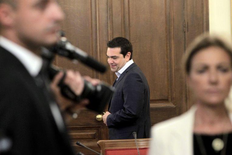Tsipras is nu aan zet, vinden de Griekse financiënministers. Beeld EPA