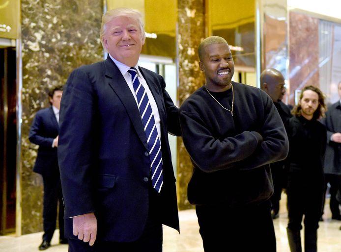 Trump en Kanye in 2016.