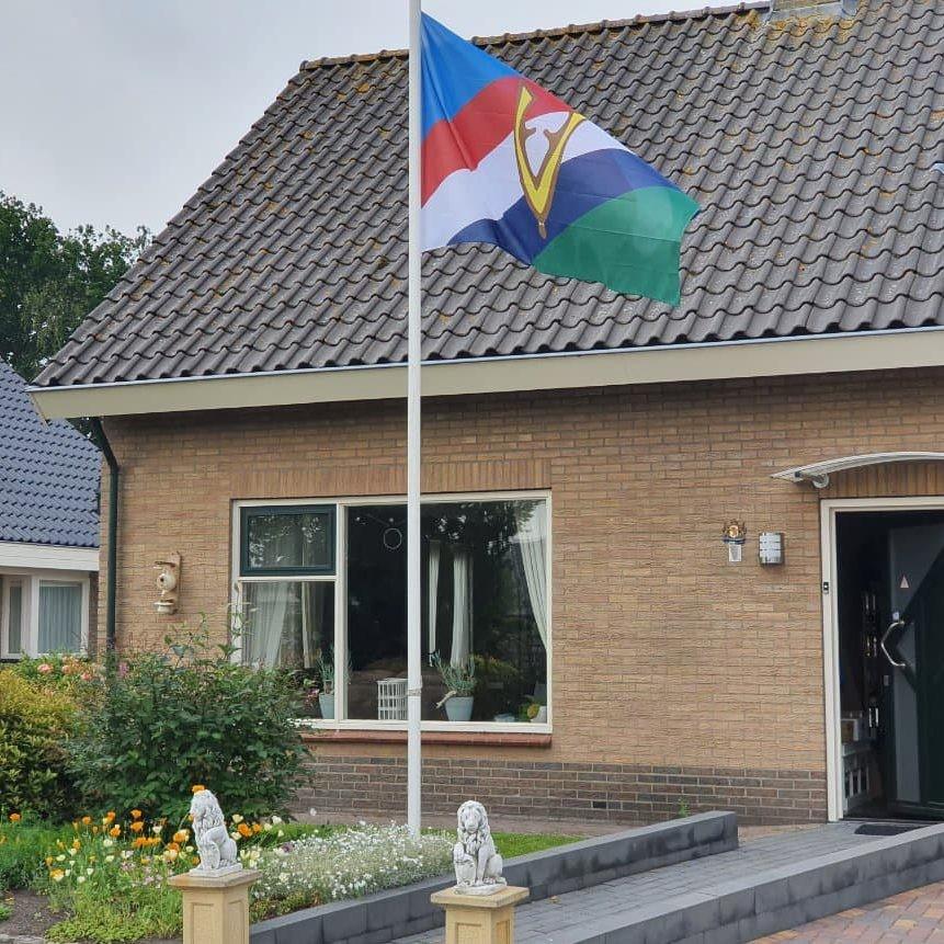 De nieuwe Veteranenvlag, die ook in Maurik gehesen gaat worden