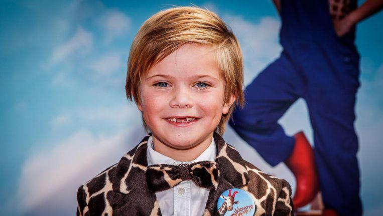 Liam de Vries (Dikkertje Dap) bij de premiere van Dikkertje Dap tijdens het Nederlands Film Festival. Beeld anp