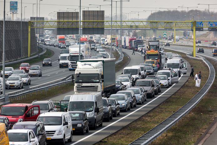 De A2 bij Den Bosch.