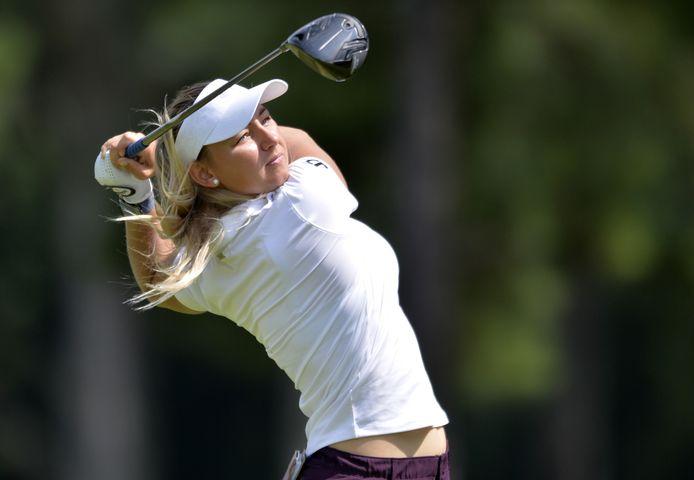 Emily Kristine Pedersen, in 2020 de beste golfster van Europa, is deze week in Arnhem op de Rosendaelsche Golfclub van de partij tijdens de Ladies European Tour.
