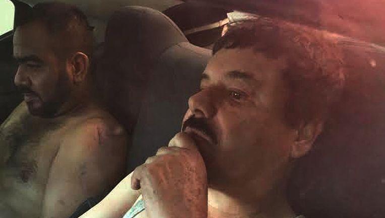oaquín Guzmán, alias El Chapo, na zijn arrestatie op 8 januari. Beeld AFP