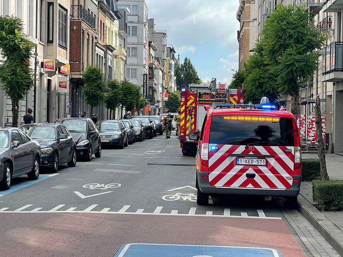 De Jan Palfijnstraat tussen de Grote Markt en het Casinoplein bleef tijdens de interventie van de brandweer afgesloten voor het verkeer.