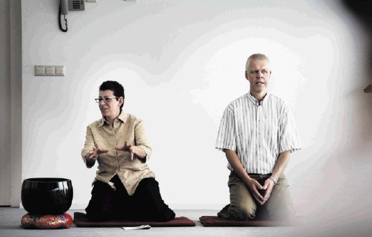 Zenmeester Rients Ritskes als leider van de cursus ¿Back to Business¿ in klooster ZIN in Vught. (FOTO WERRY CRONE, TROUW) Beeld
