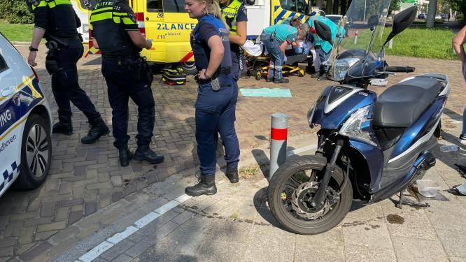 Scooterrijder raakt gewond bij botsing met auto in Eindhoven