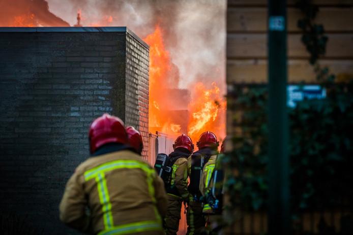 De brandweer was snel ter plaatse om te blussen.