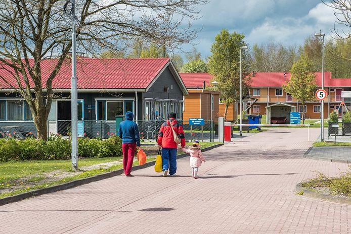 Een Asielzoekerscentrum aan de Hooiweg in Oude Pekela. Archiefbeeld uit 2017.