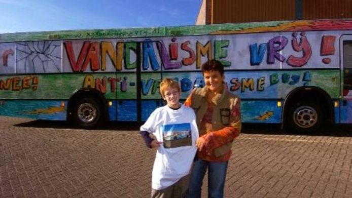 Teun Grondman en projectleidster Sylvia Baasdam. Foto George Nusmeijer