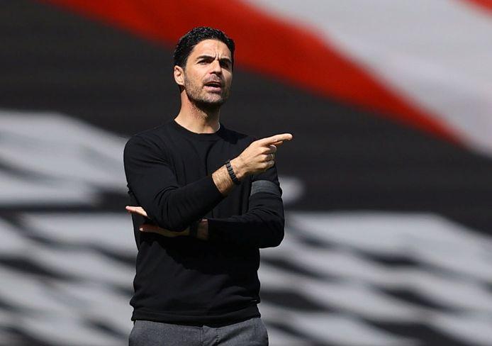 Mikel Arteta, de Spaanse coach van Arsenal.