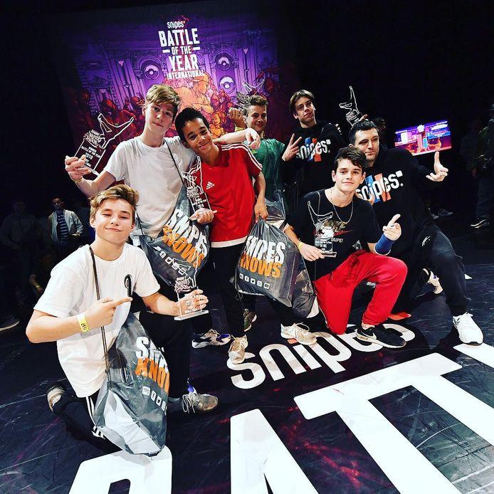 De wereldkampioenen Breakdance (-16 jaar) uit Merksem