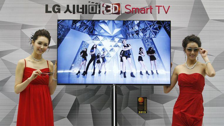 Enkele Smart TV's van LG zouden informatie hebben doorgestuurd naar Zuid-Korea. Beeld AP