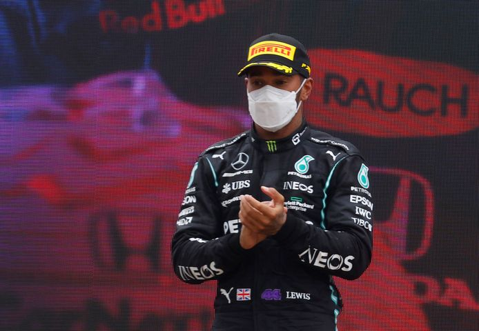 Lewis Hamilton greep in Frankrijk net naast de zege.