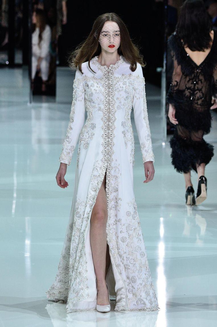Luna Cornelissen maakte vorige week haar rentree op de catwalk bij Valentino Beeld Peter White/Getty Images
