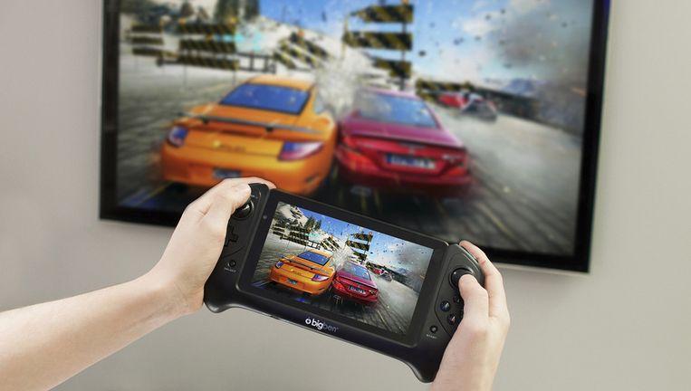 De GameTab-One kan games afspelen op TV (denk er even een HDMI-snoertje bij). Beeld BigBen