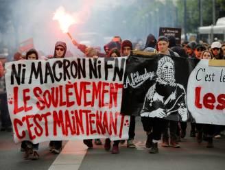 """""""Noch Le Pen, noch Macron"""": Parijse studenten raken slaags met oproerpolitie tijdens protest"""
