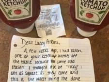 Ketchupdief met spijt krijgt geld van Heinz voor beschadigde auto