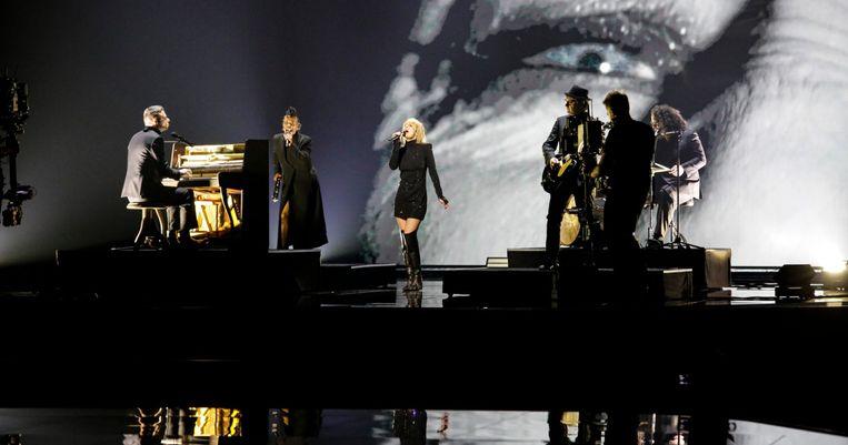 Alex Callier: 'Wij zullen het songfestival niet winnen. Er steekt één nummer boven alle andere uit: de Franse inzending.'  Beeld Guy Kokken