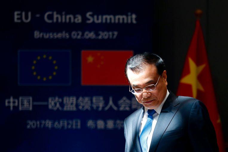 De Chinese premier Li Keqiang.  Beeld AFP