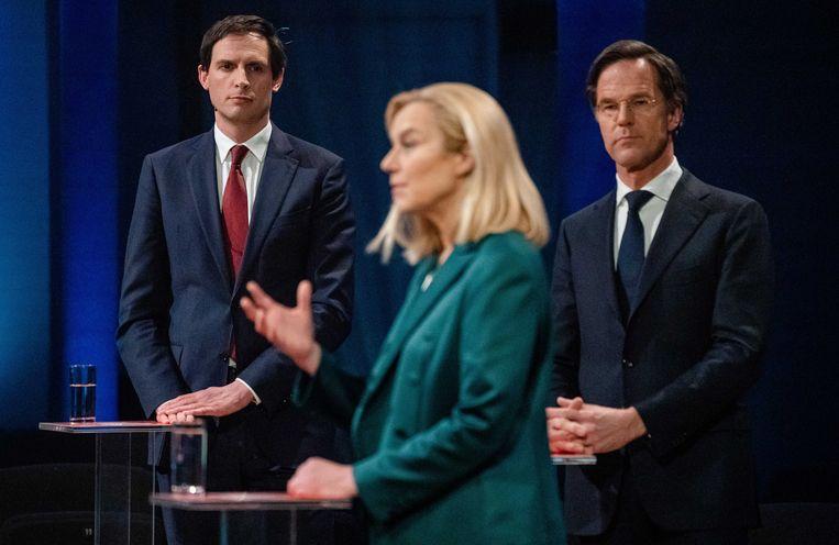 D66-leider Sigrid Kaag had een wat trage start, maar stijgt de laatste tijd in de peilingen. Beeld Bart Maat/ANP