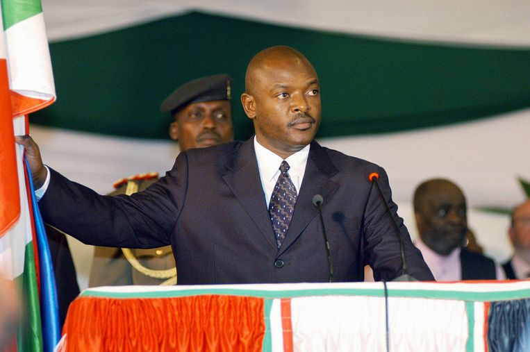 De president van Burundi, Pierre Nkurunziza. Beeld ap
